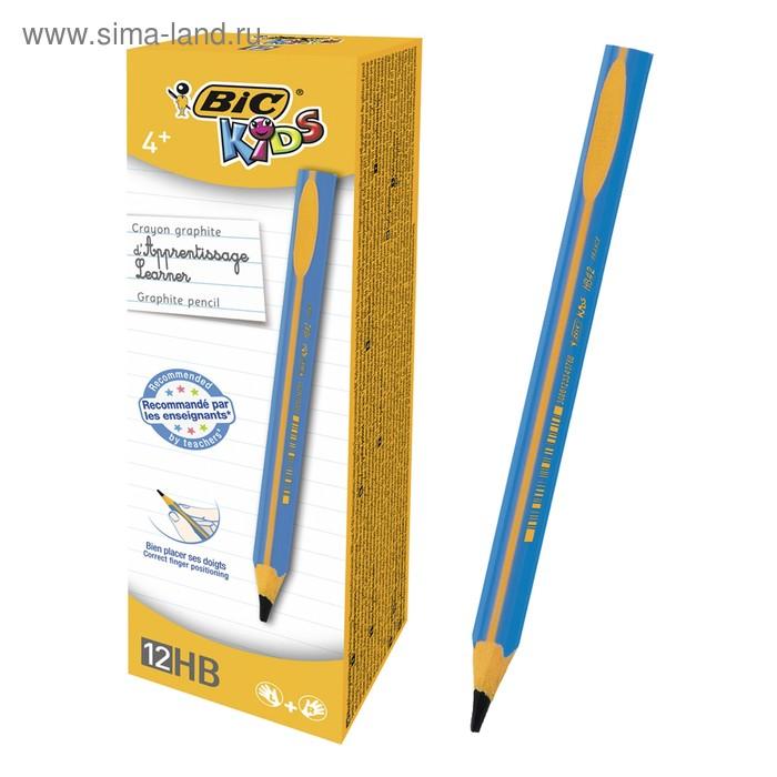 Карандаш чернографитный JUMBO BIC Kids Evolut Boy пластик, голубой корпус 919262