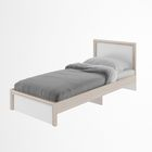 Кровать с ламелями Остин Шимо светлый/белый