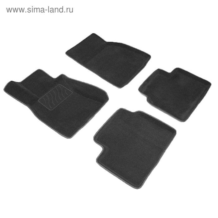 Коврик ворсовый для Nissan TIIDA (C13), 2015-, Черный