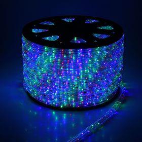 LED шнур 11х18 мм, квадратн., 100 м, чейзинг, 3W-LED/м-36-220V в компл. н-р д/подкл. мульти