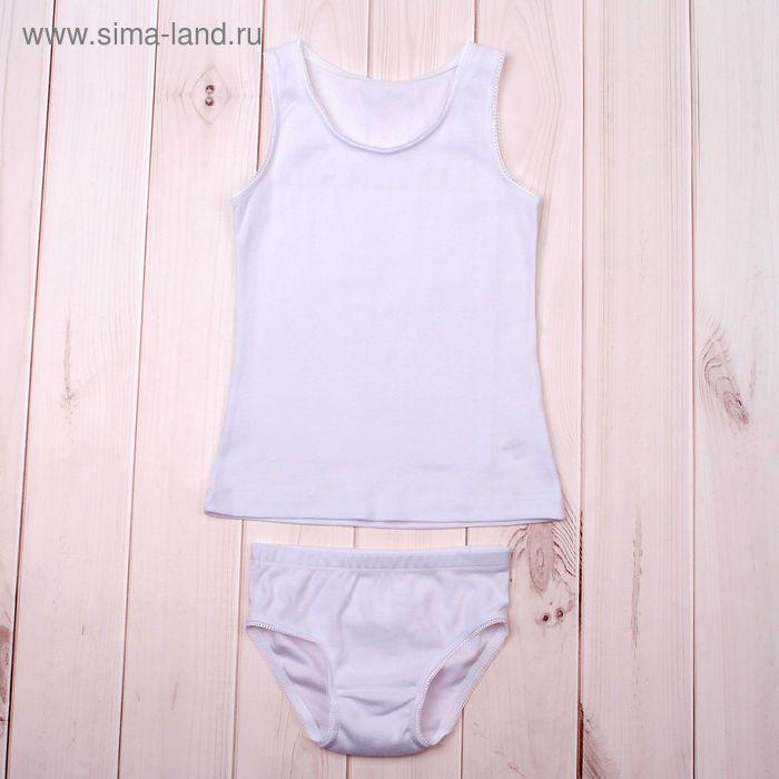 Комплект для девочки (майка, трусы), рост 122 см, цвет белый (арт. К340_Д)