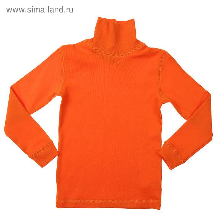 Джемпер для мальчика, рост 116 см, цвет оранжевый (арт. Н325_Д)
