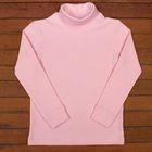Водолазка для девочки, рост 128 см, цвет светло-розовый (арт. Н325_Д)