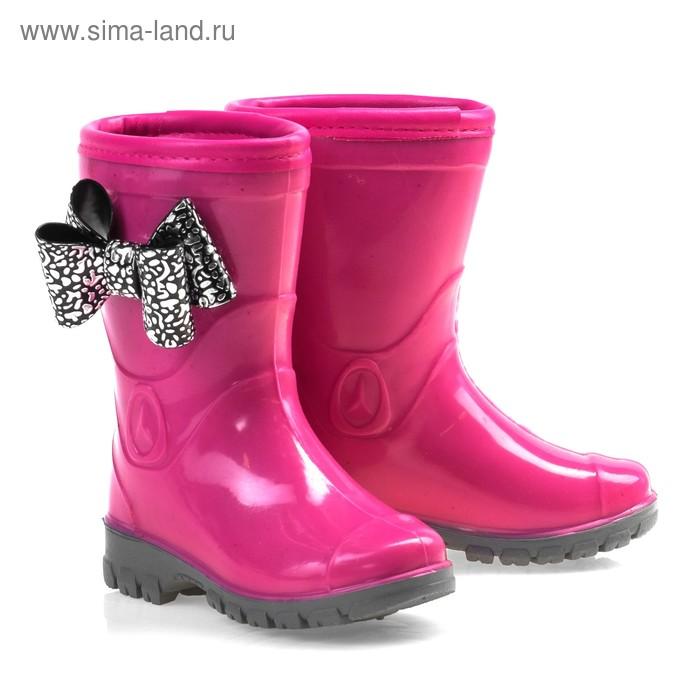 """Сапоги резиновые детские """"Красотка"""", размер 26, розовый"""