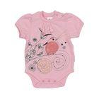Боди для малышей, цвет розовый (рост 62-68-74-80-86 см) Pbg06-3