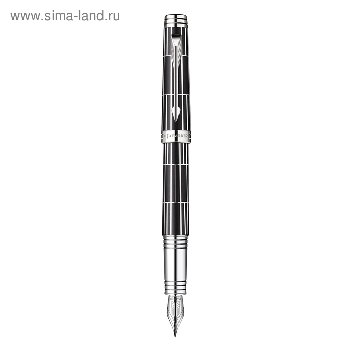 Ручка перьевая Parker Premier Luxury F565 (1876380) Black CT (F)