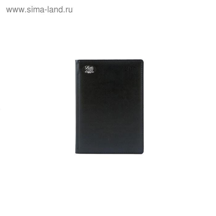 Ежедневник датированный 2017г А5 Letts UMBRIA искусственная кожа, белый блок, черный