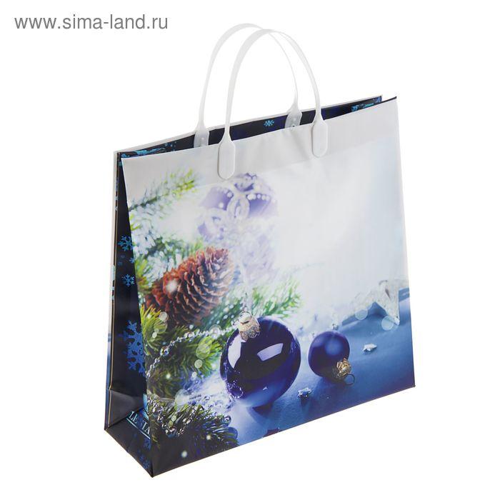 """Пакет """"Зимние сказки"""", мягкий пластик, объемный 30х30 см"""