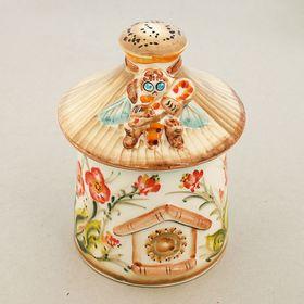 Бочонок для мёда «Улей», гжель, цветной Ош