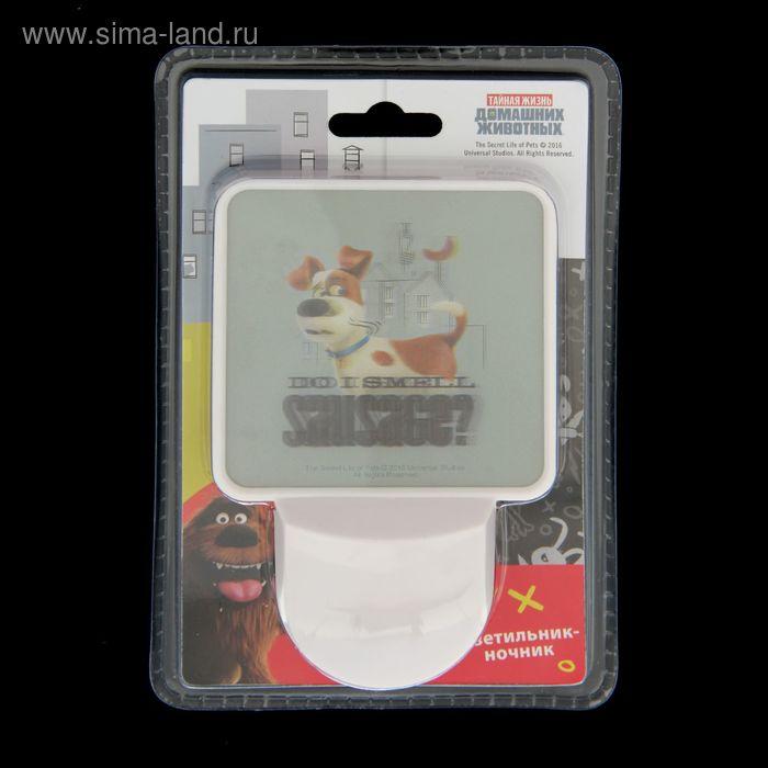 Ночник светодиодный с датчиком освещенности Pets, МИКС