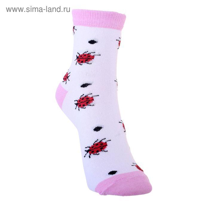 Носки детские 3с12, размер  18(16-18), цвет бело-розовый
