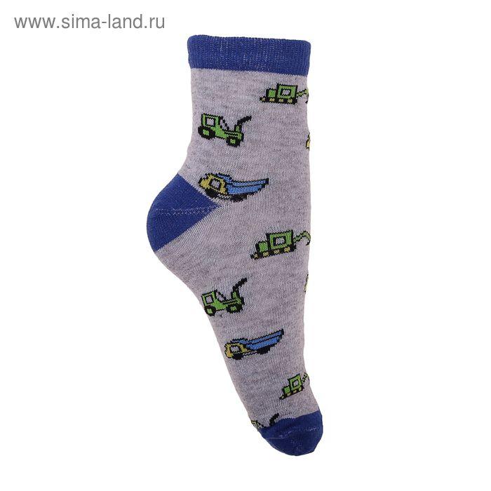 Носки детские 3с12, размер  18(16-18), цвет серо/синий