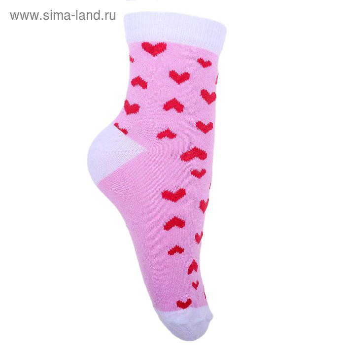 Носки детские 3с12, размер  22(20-22), цвет розовый/белый