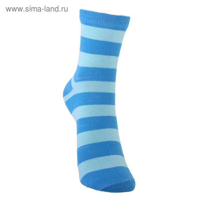 Носки детские 3с13, размер  22(20-22), цвет синий/салатовый