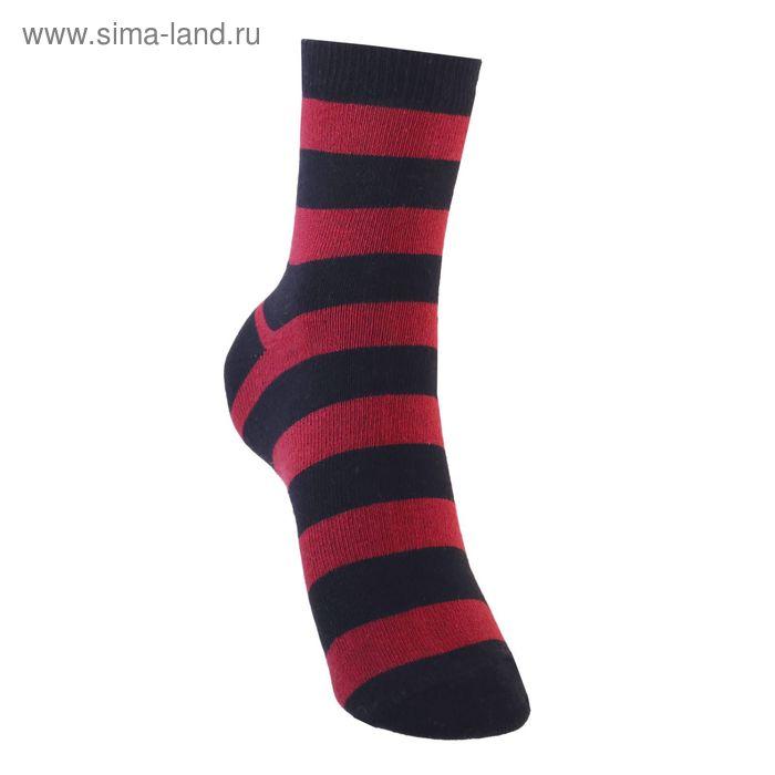 Носки детские 3с13, размер  22(20-22), цвет черный/красный
