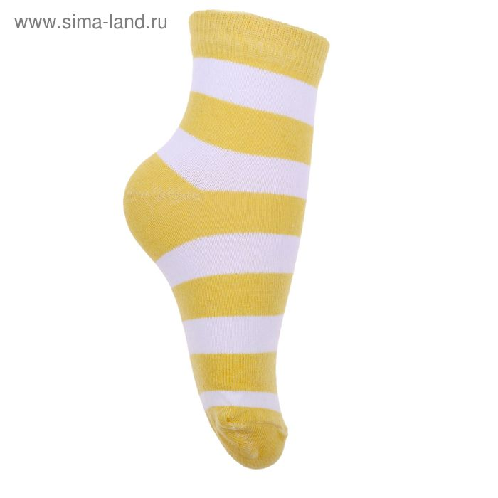 Носки детские 3с13, размер  16(14-16), цвет белый/желтый