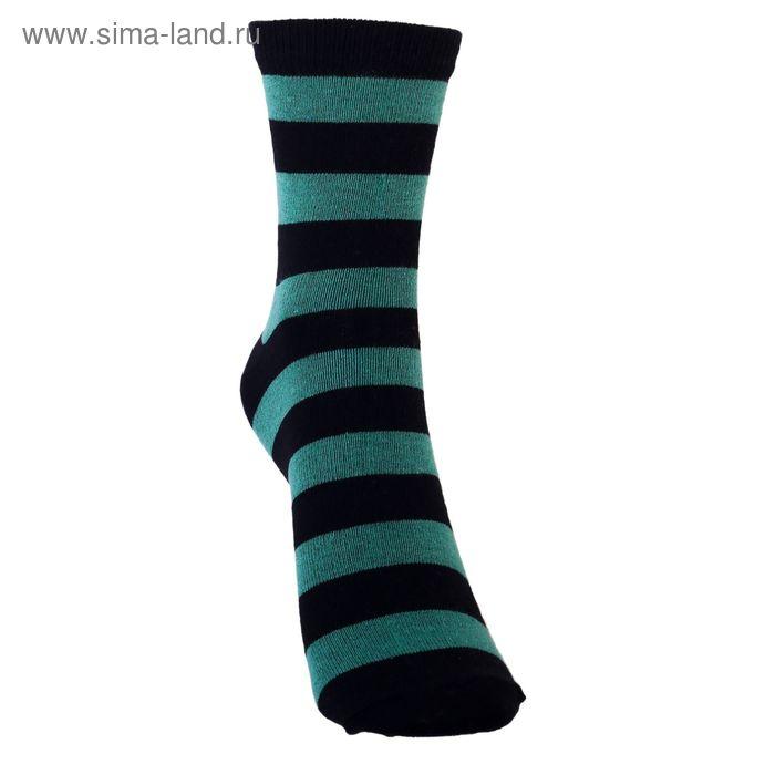 Носки детские 3с13, размер  22(20-22), цвет зеленый/черный