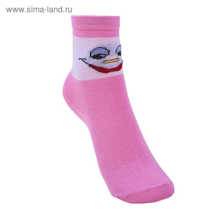 Носки детские, размер 16(14-16), цвет бело-розовый