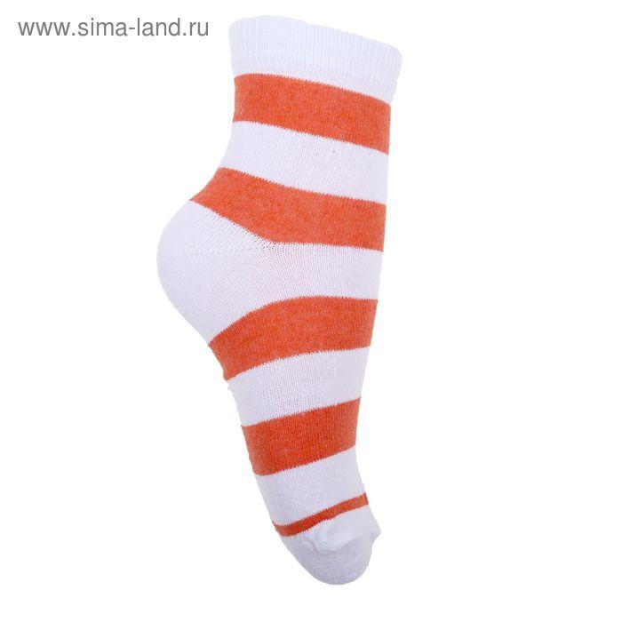Носки детские 3с13, размер  16(14-16), цвет белый/оранжевый