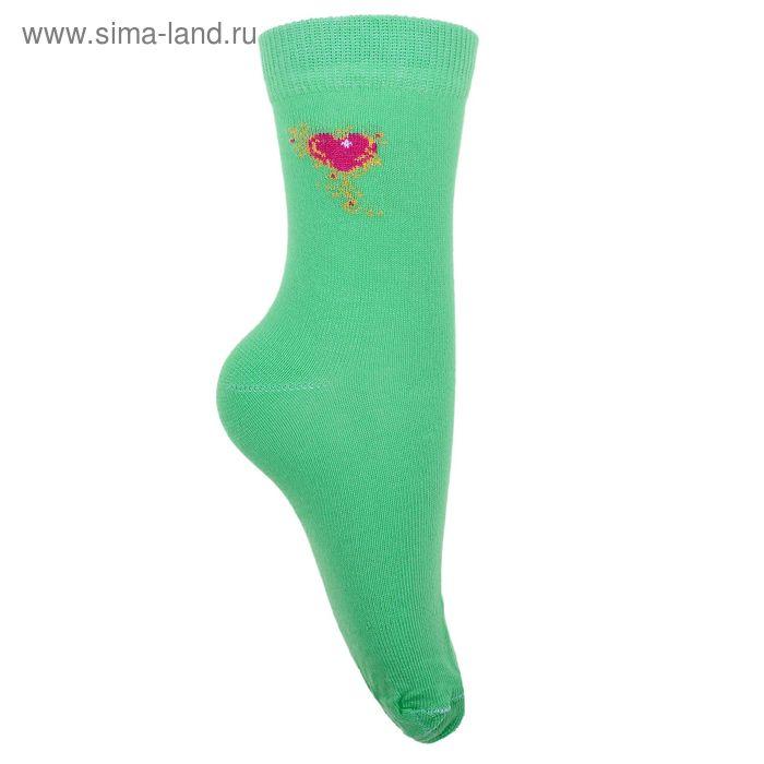 Носки детские 3с14, размер  18(16-18), цвет зеленый