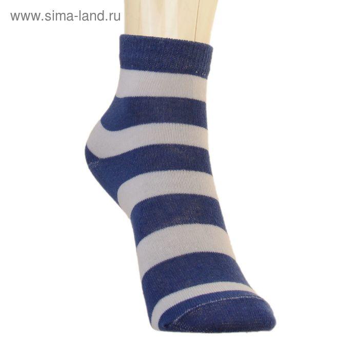 Носки детские 3с13, размер  16(14-16), цвет полоса белый/синий