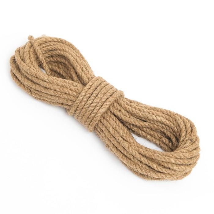 Канат джутовый крученый  8 мм, локоть (20 м)