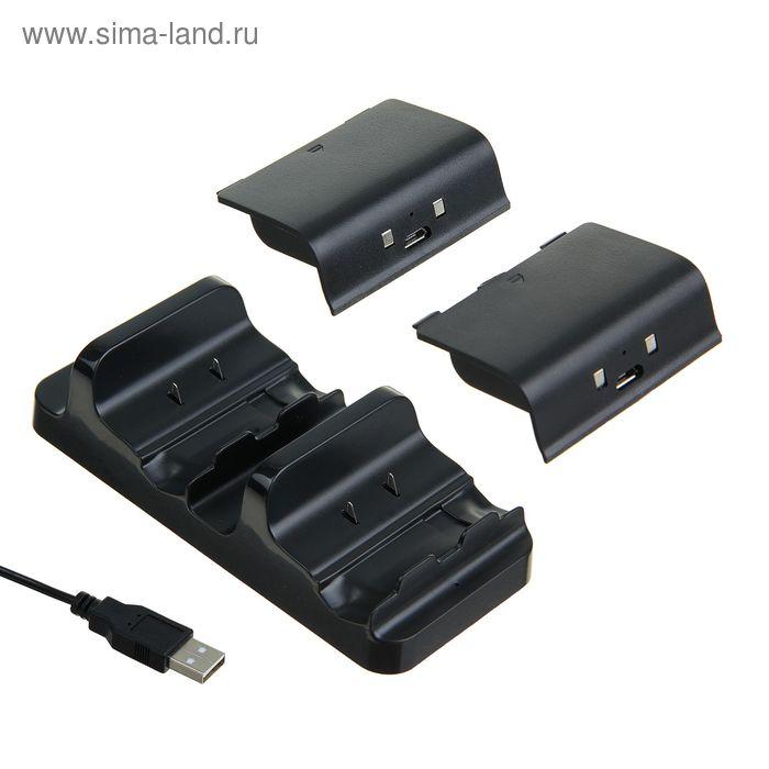 Зарядная станция Black Horns XB-02 для XBOX ONE, 2 аккумулятора для геймпадов