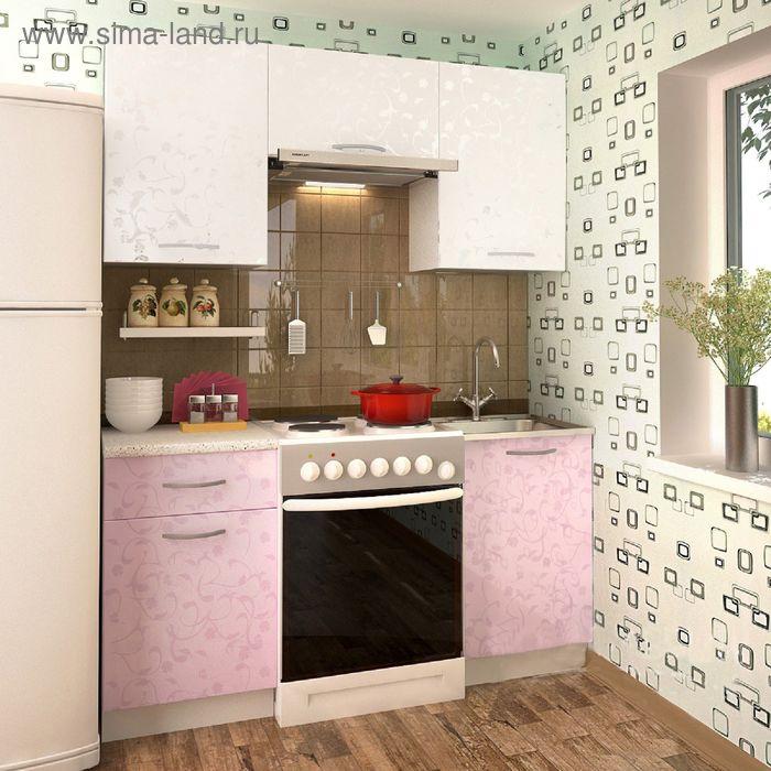 Кухонный гарнитур Ирис Белые цветы 1600
