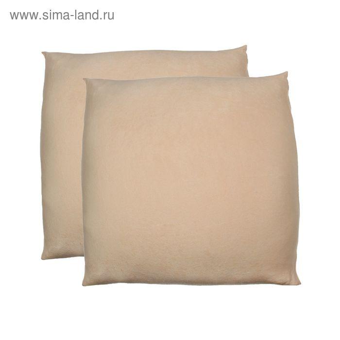 Наволочки махровые на молнии, размер 50х70 см-2 шт., цвет персик