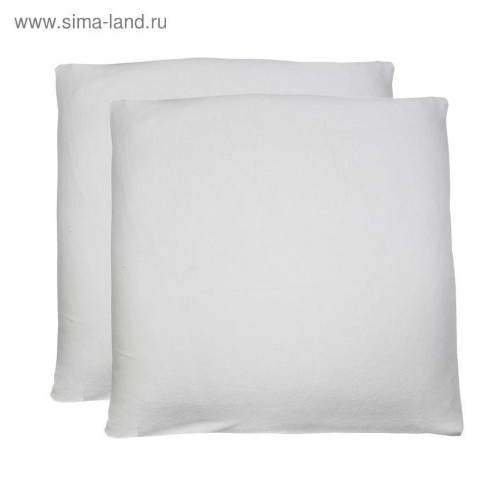 Наволочки махровые на молнии, размер 70х70 см-2 шт., цвет молочный