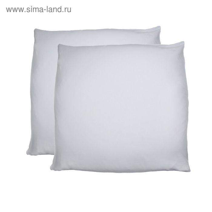 Наволочки трикотажные на молнии, размер 70х70 см-2 шт., цвет белый