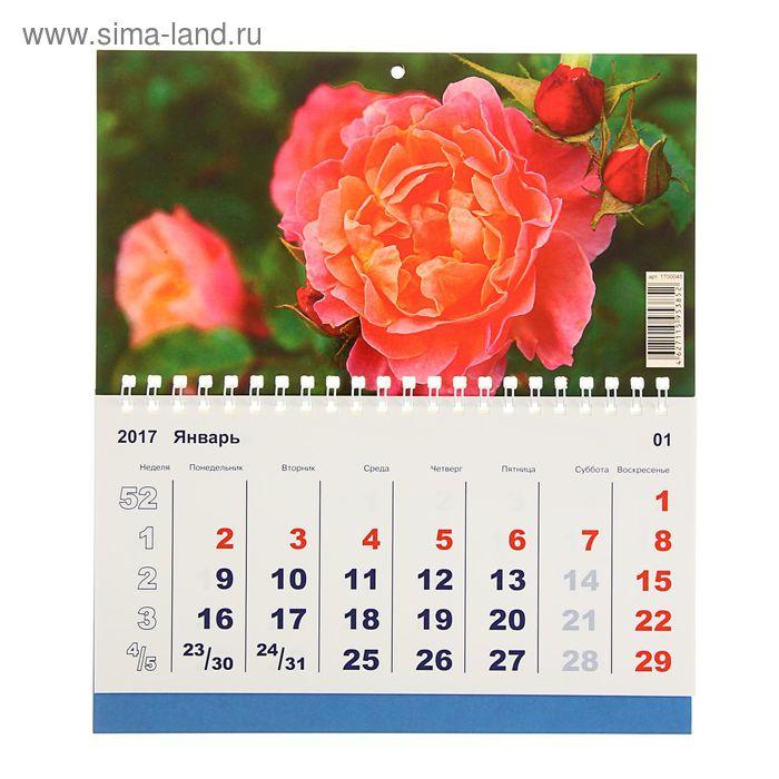 "Календарь моно ""Цветы"" 20х24 см"