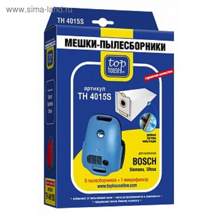Двухслойные мешки-пылесборники  Top House 4015 S, 5 шт + 1 микрофильтр