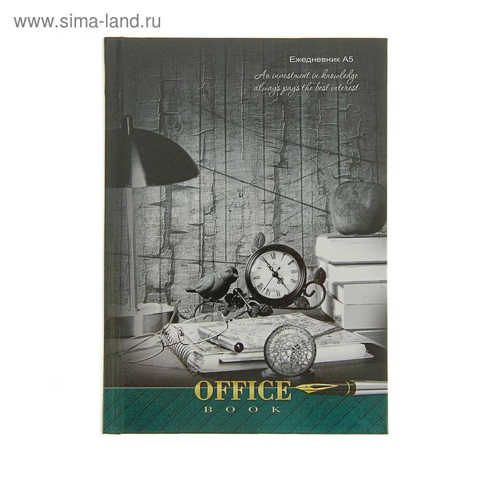 """Ежедневник датированный 2017г А5, 168 листов """"Винтажный офис"""", твердая обложка, глянцевая ламинация"""
