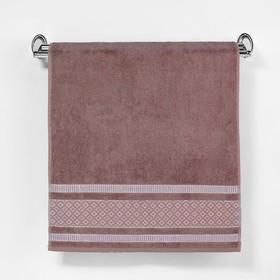 """Полотенце махровое """"Этель"""" Bambolina, каштановый 50*90 см бамбук, 460 г/м2"""