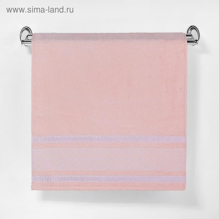 """Полотенце махровое """"Этель"""" Bambolina, дымчато-розовый 70*140 см бамбук, 450 г/м2"""