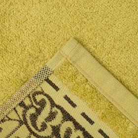 """Полотенце махровое """"Этель"""" Flabello, зелёный 70*140 см бамбук, 450 г/м2"""