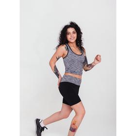 Спортивная майка ONLITOP Fitness time, размер 46-48, цвет серый