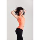 Спортивная майка ONLITOP Fitness time, размер 46-48, цвет коралловый