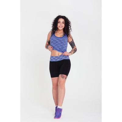 Спортивная майка ONLITOP Fitness time, размер 46-48, цвет синий