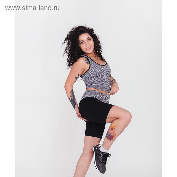 Спортивные шорты ONLITOP Fitness time, размер 46-48, цвет серый