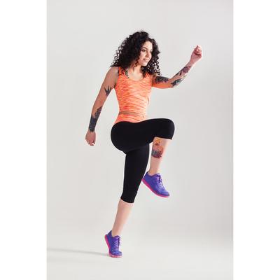 Спортивные бриджи ONLITOP Fitness time, размер 42-44, цвет коралловый