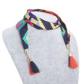 Бусы-шарф кисти, цвет МИКС, 85см