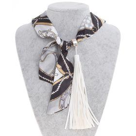 Бусы-шарф кисть большая, цвет МИКС, 110см