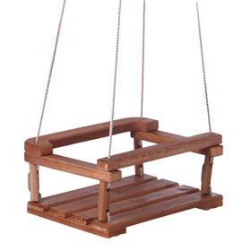 Качель  подвесная, деревянная 30*40см плоская, тёмная Ош