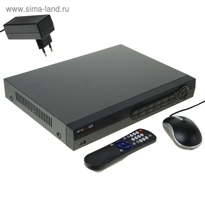Видеорегистратор гибридный NOVIcam TR1004A, 4 аналоговых канала, запись до 720 Р
