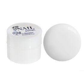 Гель-краска для ногтей трёхфазный LED/UV, 8мл, цвет 08 белый