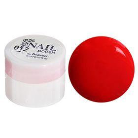 Гель-краска для ногтей трёхфазный LED/UV, 8мл, цвет 12 неоновый красный