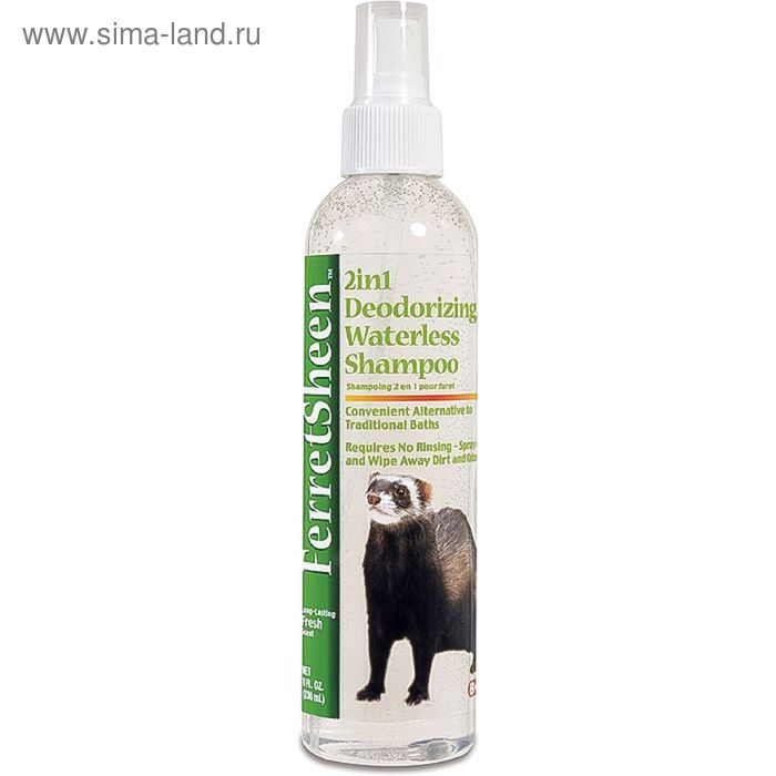 Спрей-шампунь 8in1  FerretSheen 2in1 Waterless Shampoo для хорьков без смывания  2в1, 236 мл   15978