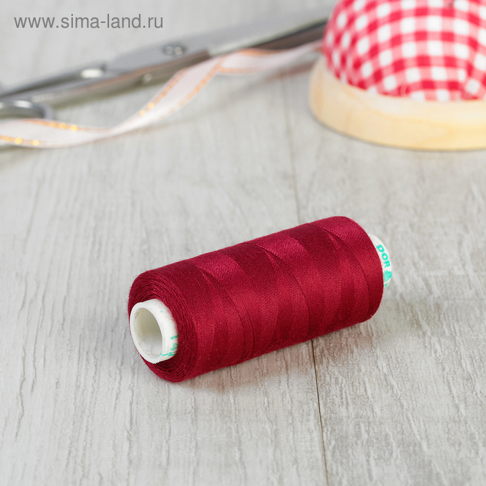 Нитки 40/2, 365м, №147, цвет бордовый